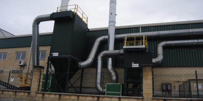 Filtro-de-mangas-y-filtro-de-cartuchos-industrial-para-Fundición