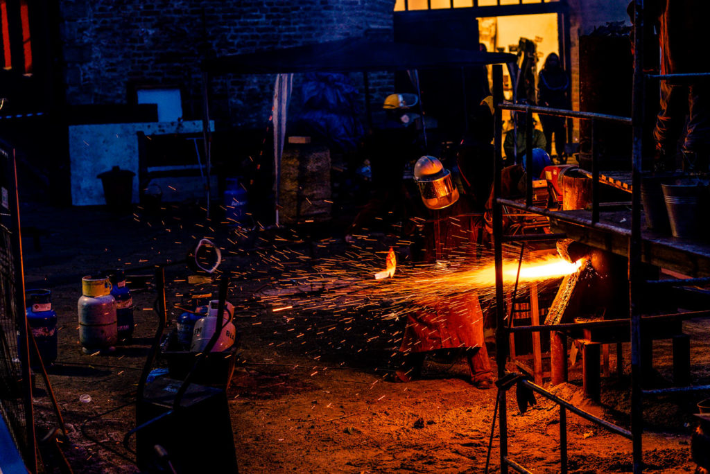 Aspiración de humos de hornos de fundición